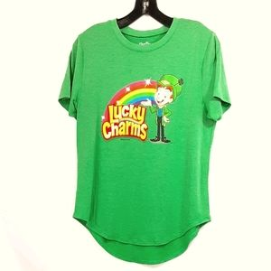 Lucky Charms Soft Short Sleeve Tee W/Logo Size L